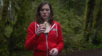 a current way to reference Little Red Riding Hood is to have her wearing a red hooded sweatshirt, such as in the pilot episode of Grimm